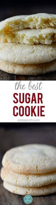 The Best Sugar Cooki The Best Sugar Cookie Recipe - Sugar...  The Best Sugar Cooki The Best Sugar Cookie Recipe - Sugar cookies make a favorite little cookie recipe for so many. Get this family-favorite recipe for chewy sugar cookies that everyone is sure to love. // addapinch.com Recipe : http://ift.tt/1hGiZgA And @ItsNutella  http://ift.tt/2v8iUYW