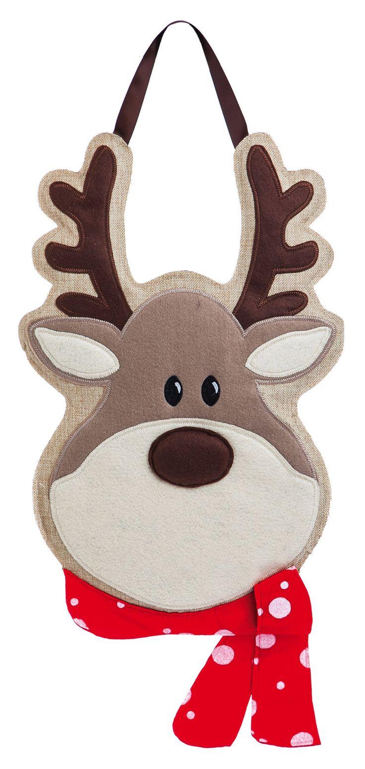 Reindeer Burlap Door Decoration