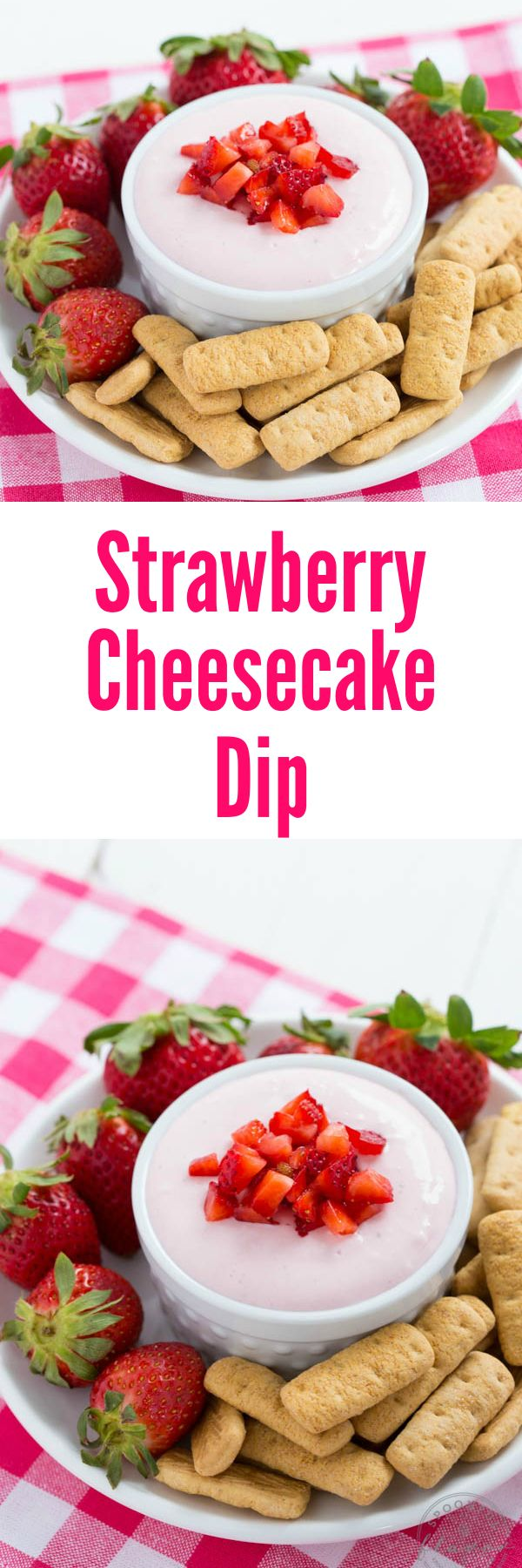 Strawberry Cheesecake Dip is an easy dessert recipe with fresh strawberry flavor!