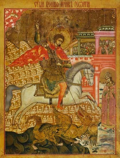 Bild:   Ikone (russisch) - Der heilige Georg