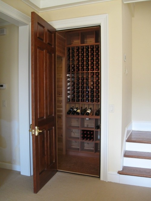 No space for a wine celler?  How about a wine closet!