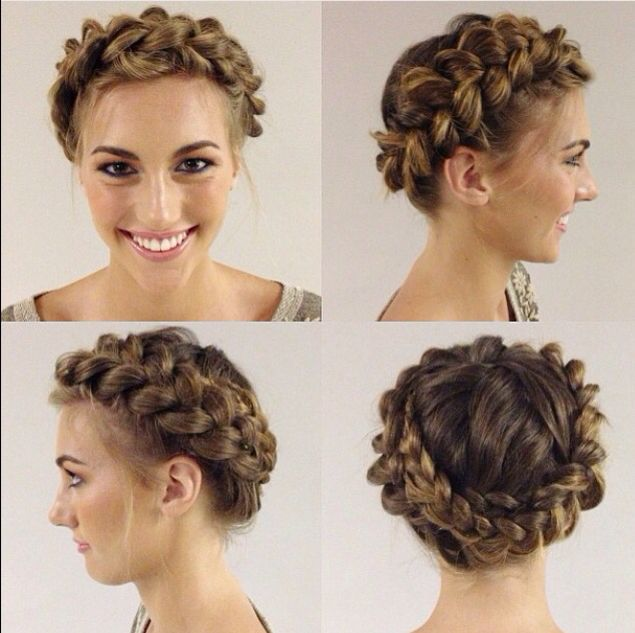 Normal braid wrapped around the head | Braides in 2019 ...