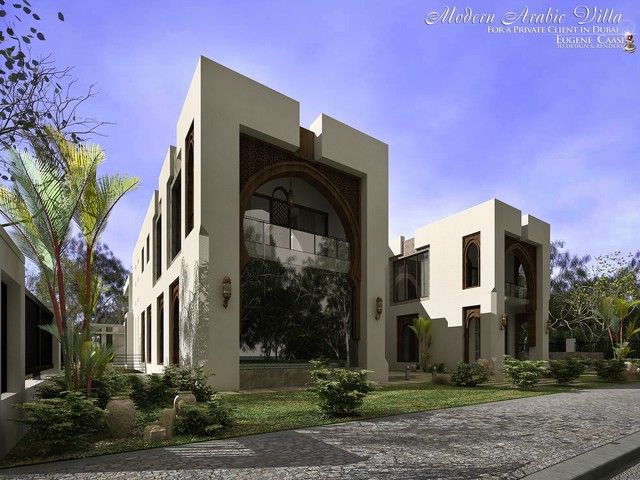 Modern arabic villa by weird comp pinterest villas for Architecture arabe