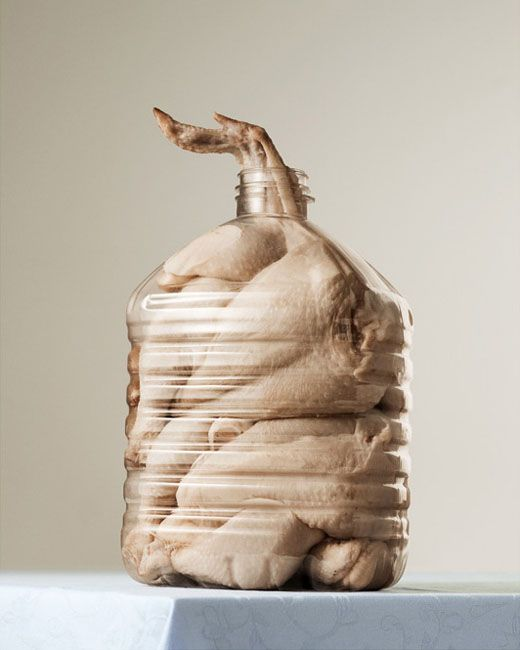 #photography In order to draw attention to the problem of human greed and limitless consumerism Danish #photographer Per Johansen created a series of photographs called Mæt, consisting of photographs of bottles stuffed with food.