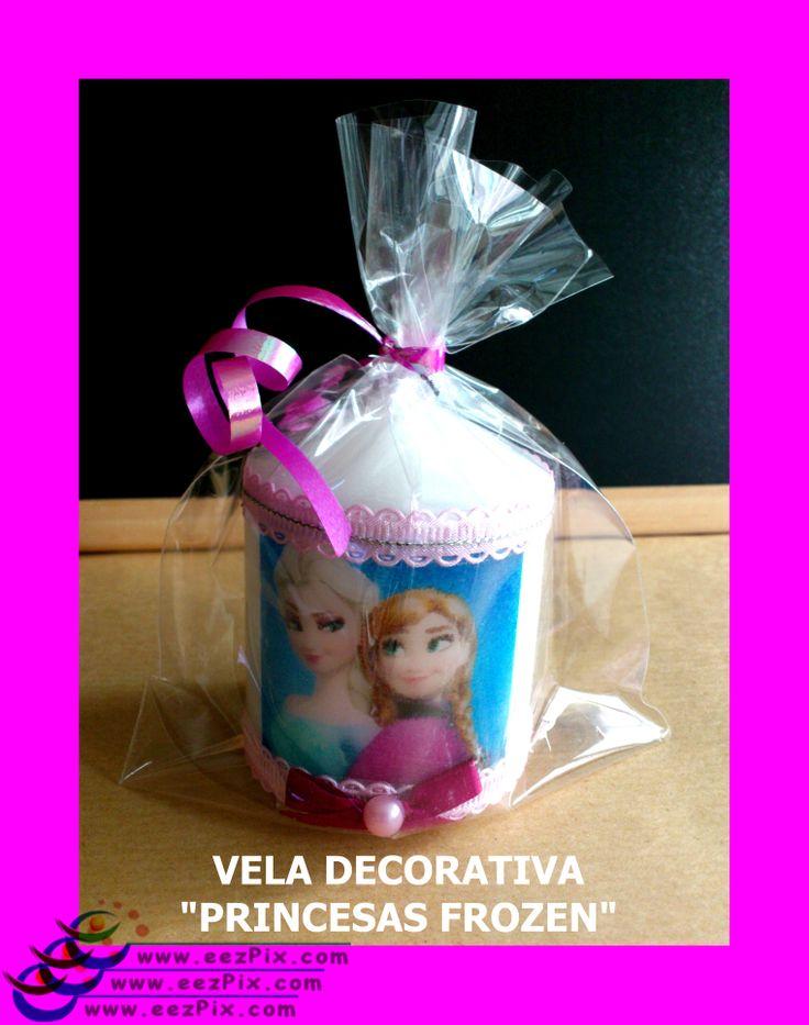 vela decorativa  princesas película frozen