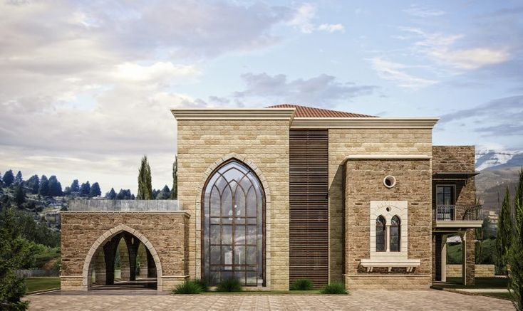 Traditional Lebanese Architecture Villa Aytat Modern Exterior House Designs House Outside Design House Exterior