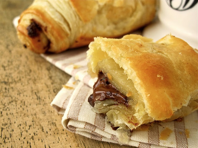 Pain Au Chocolat from Puff Pastry | Chocolate Croissants made with Puff Pastry - Great Holiday Brunch Recipe