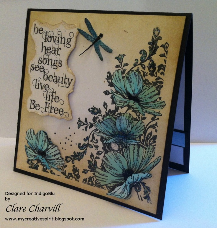 card making ideas using rubber stamps
