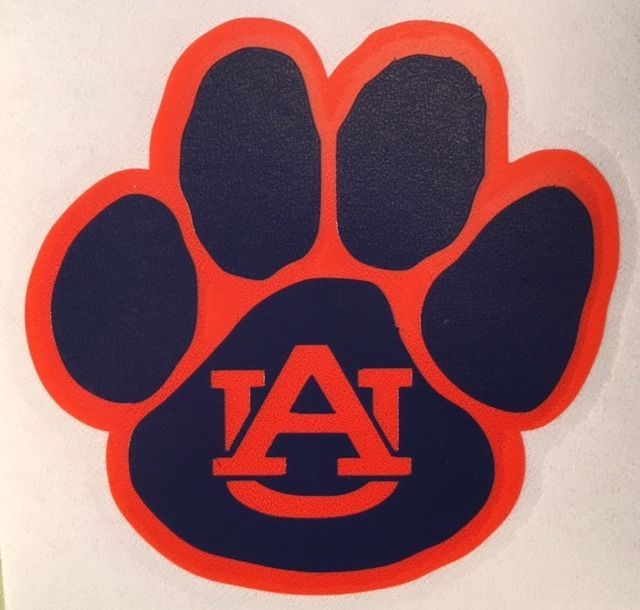 Details about Auburn Tigers Paw Decal For Your Yeti Rambler Tumbler ...