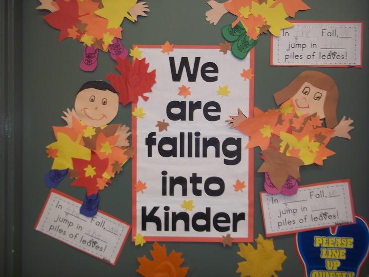 Preschool Classroom Fall Decorations ~ My kindergarten fall door decoration classroom pics