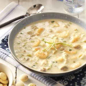 Seafood Bisque Recipe from Taste of Home -- shared by Pat Edwards of Dauphin Island, Alabama