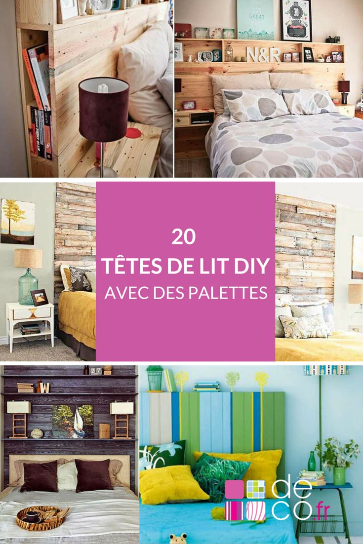 tete de lit en palette a faire soi meme. Black Bedroom Furniture Sets. Home Design Ideas