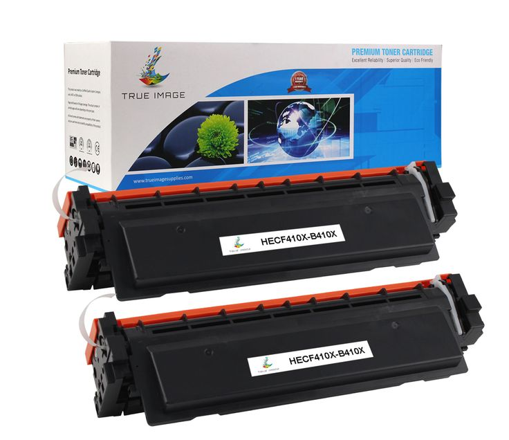 TRUE IMAGE HECF410X-B410X Black Toner Replaces HP CF410X (2-Pack, In stock on Feb.8, 2016)