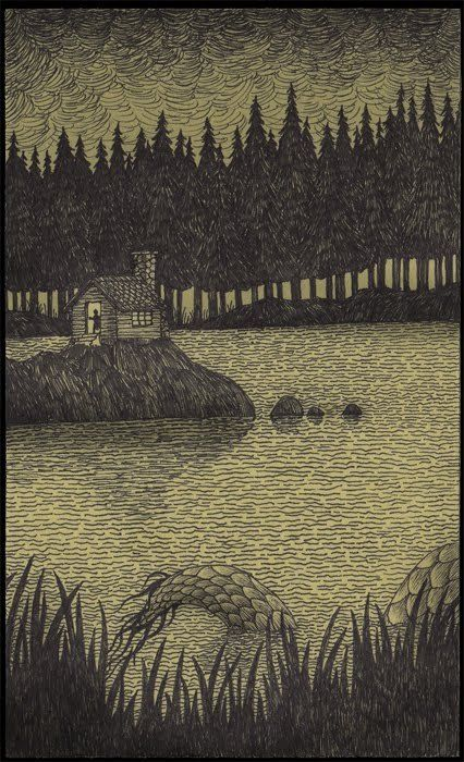 Edward Gorey artwork. I just like this. Reminds me of a scary story my dad used to tell...