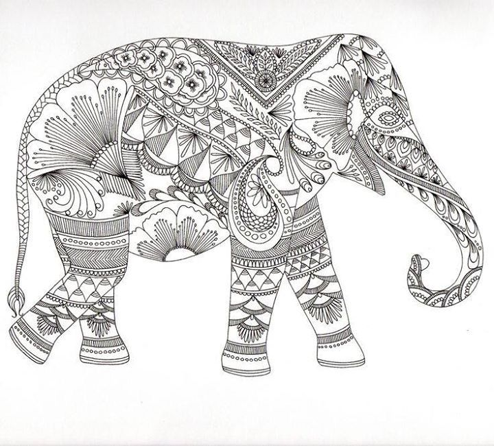 printable tribal elephant coloring pages - photo#32