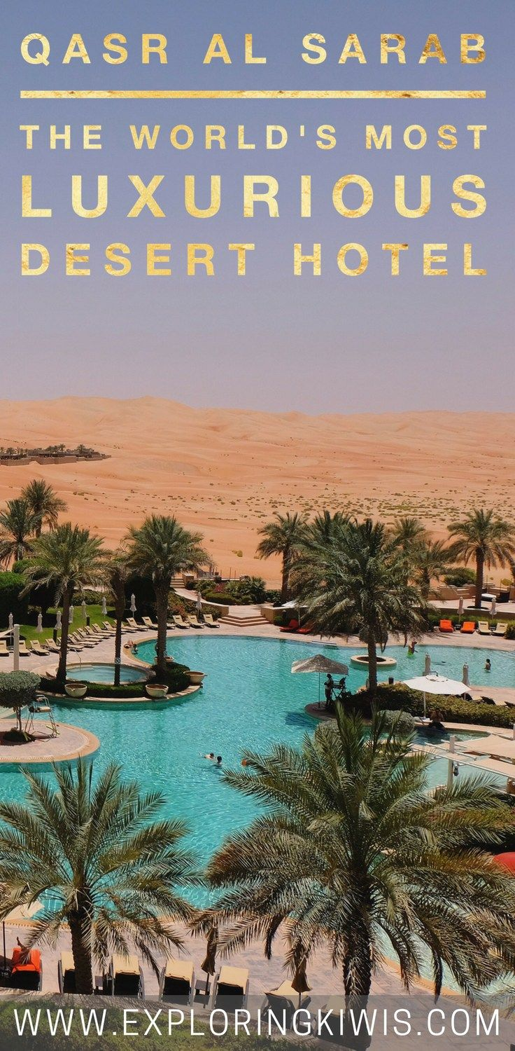 Qasr Al Sarab is the best luxury desert hotel in the world.  Located in the Liwa Desert it offers world class restaurants, activities, relaxation and the ultimate in luxury.  Don't visit Abu Dhabi or Dubai without heading out into the desert!