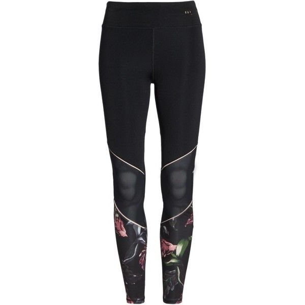 Women's Ted Baker London Eden Piped Leggings ($159) ❤ liked on Polyvore featuring activewear, activewear pants, black and ted baker