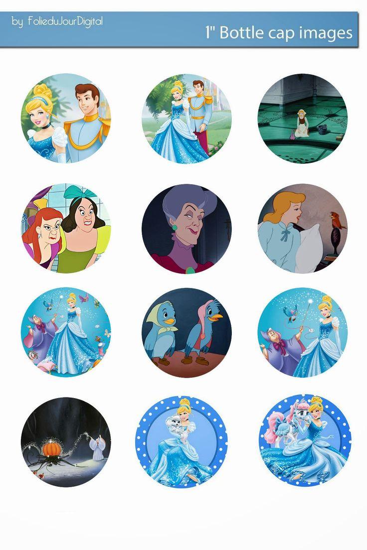 Free Bottle Cap Images: Cinderella disney free bottlecap images downloadab...