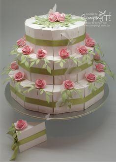 stampin up cutie pie cake box - Google Search
