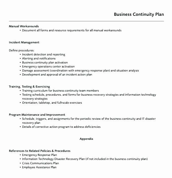 Information Technology Policy Template Best Of It Security Policy Template Sample Co Business Continuity Planning Business Contingency Plan Business Continuity