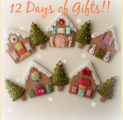 Figuras navideñas de fieltro para decorar arbol de navidad07