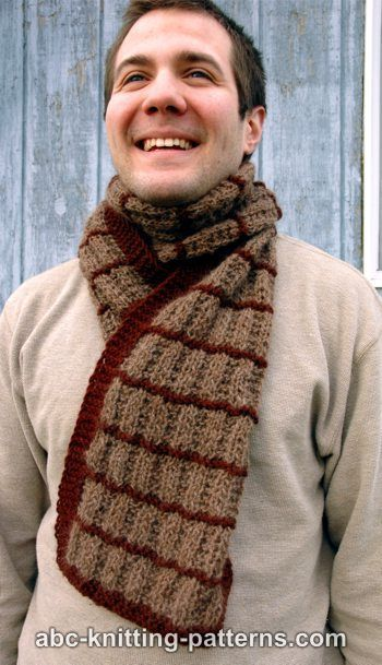 ABC Knitting Patterns - Irish Shepherd Scarf