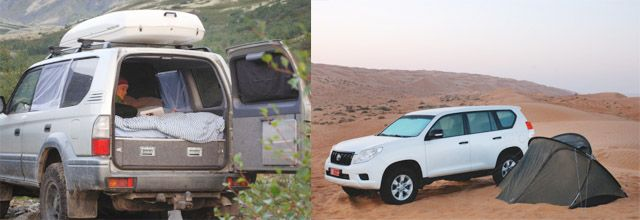 Discover the world in a 4wd.  Make a campervan out of your 4x4 or sleep in a tent.