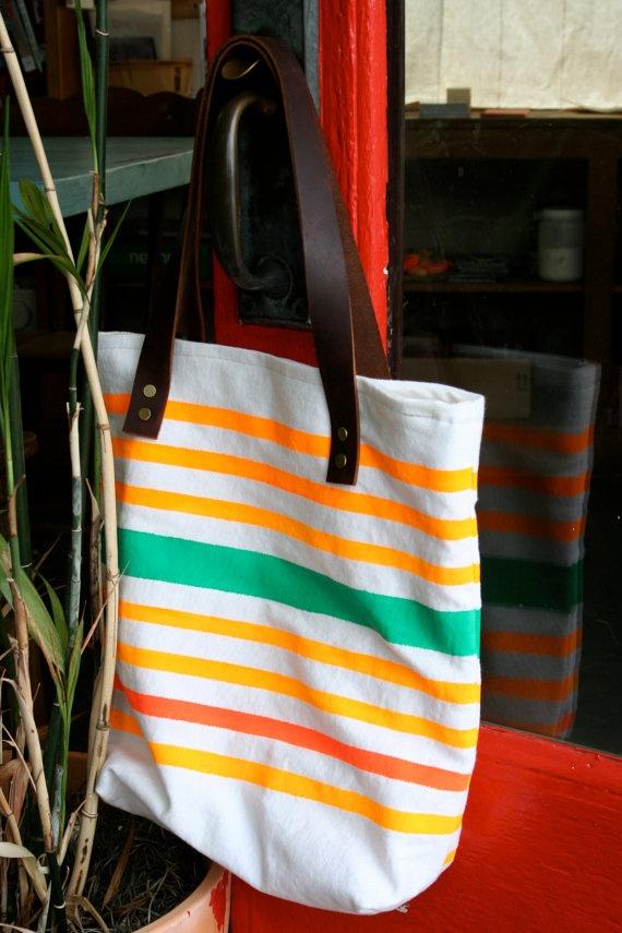 Hand Painted Beach Bag $32