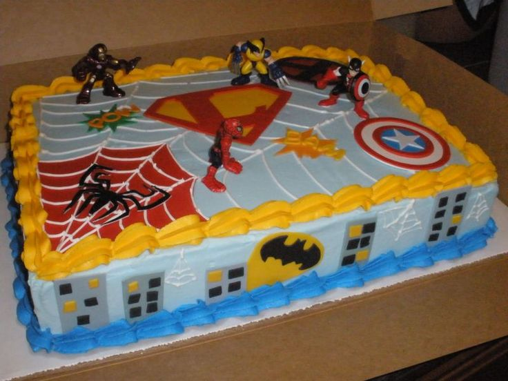 superhero cakes for kids | Wish me luck as I attempt to create the ultimate superhero cake. I ...