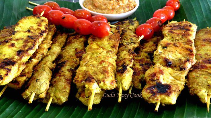 Cách làm món Thịt nướng xâu gà nướng xiên que món mướng satay recipes  [...
