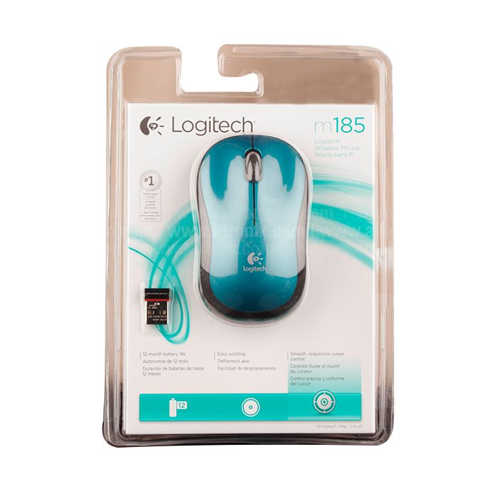 Mouse inalambrico logitech m185 conexión usb $225.00 precio sujeto a cambio