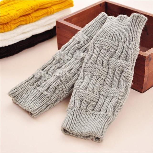 Solid Knitted Fingerless woolen Warmer Winter Gloves & Mittens