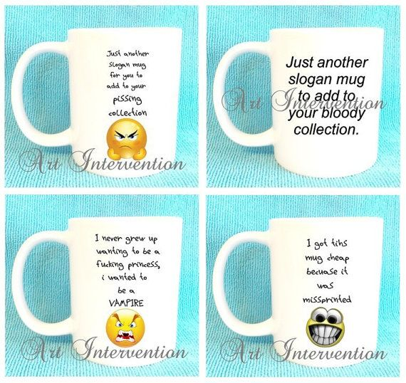 Funny Mugs  Another slogan mug  Grow upto by CreativeIntervention