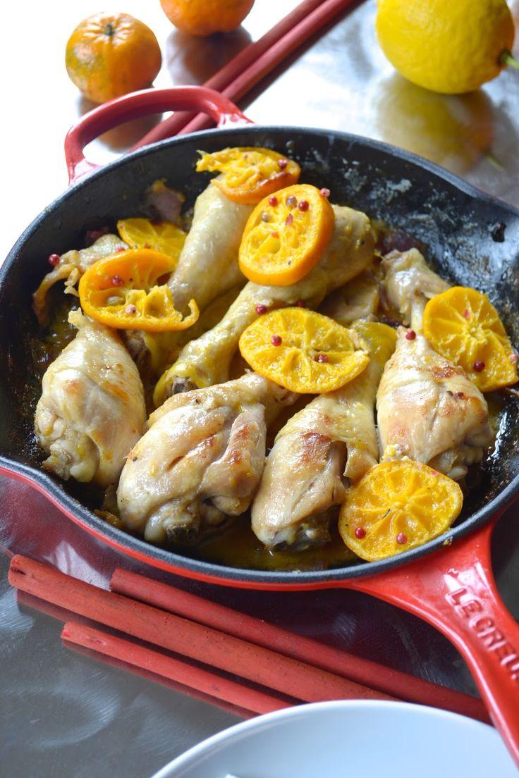 Ricetta Cosce di pollo con crema al mandarino e pepe rosa