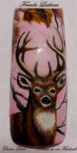 Camo Deer by FreedaLatham - Nail Art Gallery nailartgallery.nailsmag.com by Nails Magazine www.nailsmag.com #nailart