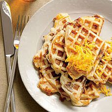 Grilled Cheese-and-Chicken-Sausage Waffles Recipe