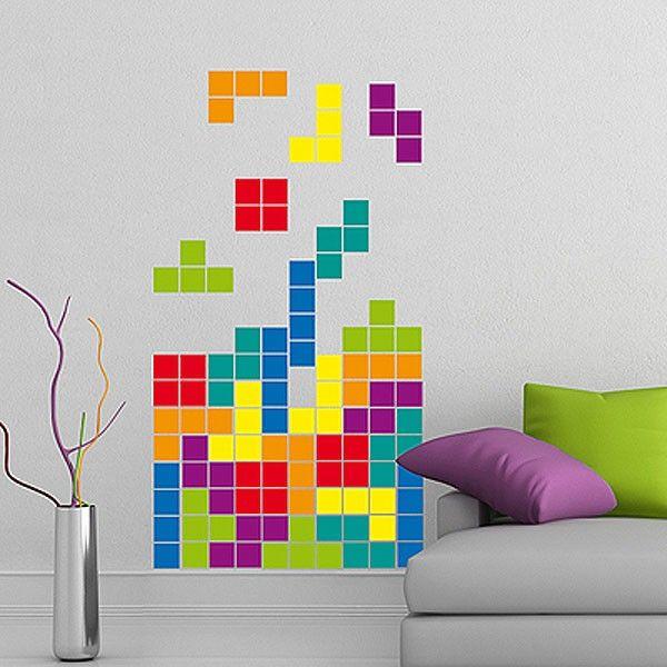 Tetris Wall Sticker - retro game wall decor