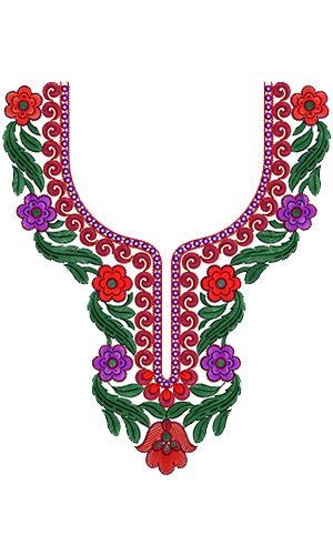 9547 Neck Embroidery Design