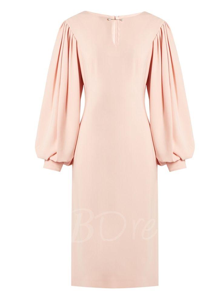 Tbdress.com offers high quality Pink Lantern Sleeve Women's Sheath Dress Sheath Dresses unit price of $ 22.99.