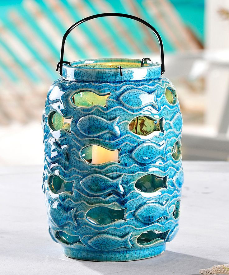 Love this Blue Fish Lantern by Giftcraft on #zulily! #zulilyfinds