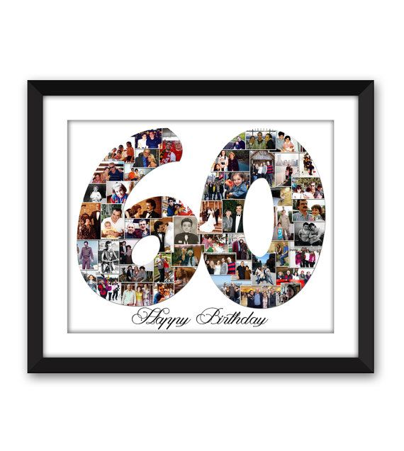 Sixty 60 Sixtieth Forty 40 fortieth Thirty 30 twenty-One 21 Anniversary Birthday Digital Printable Custom 1 or 2 digit Number Photo Collage