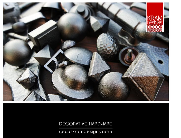 Anthracite plated Kram Decor Decorative Hardware