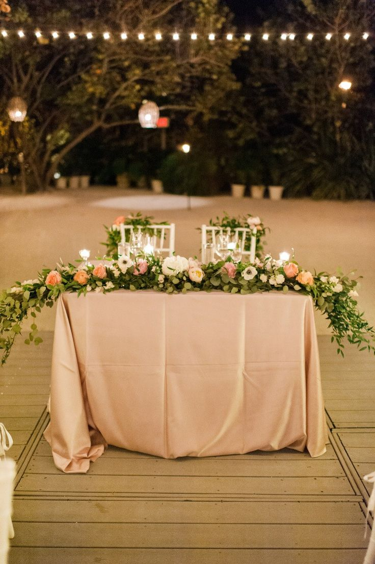 Bride And Groom Wedding Table Ideas farm to table chateau wedding Bride Wears Stunning Ines Di Santo Gown To Miami Wedding Centerpiece Ideaswedding Centerpieceswedding