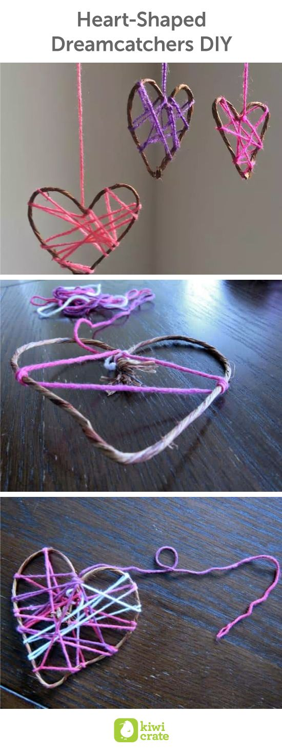 Heart-Shaped Dreamcatchers DIY! I love Valentine's Day, but not for the candy or the gifts. I love it for the abundance of hearts displayed and love demonstrated. There can never be enough love in the world, and Valentine's Day is a reminder of that. Thes
