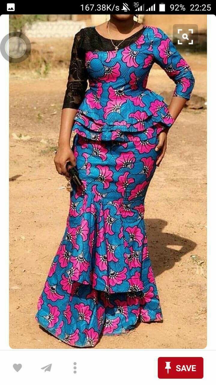 buy popular 04f11 8b7a1 Ensemble dame | ensemble dame en 2019 | Robe africaine, Mode ...