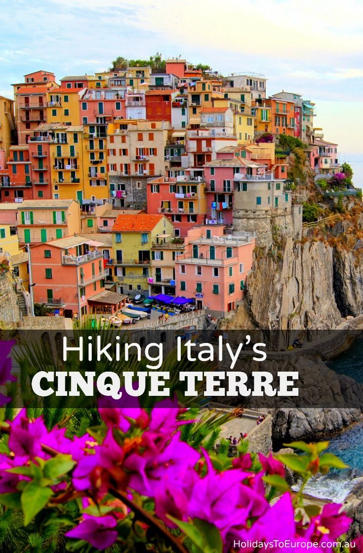 A guide to hiking Italy's Cinque Terre trails.  What to expect, what to bring and more handy tips. Click the image to read my guide.