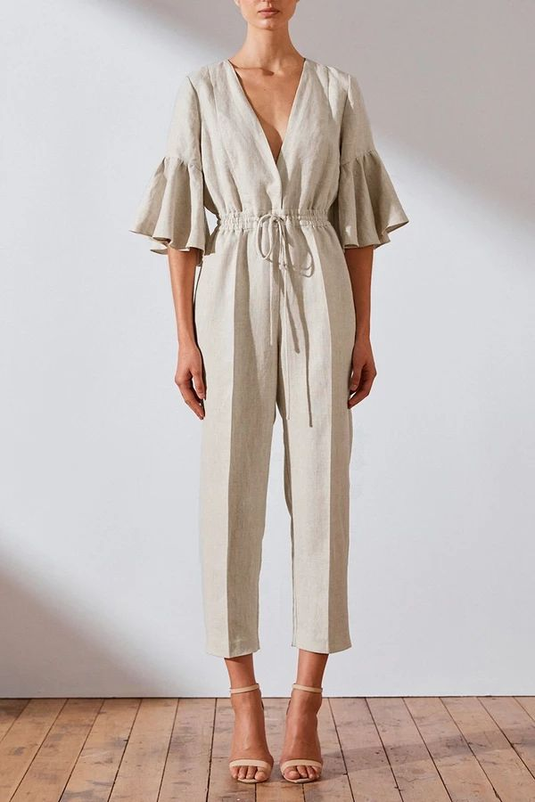 SAVANNAH LINEN JUMPSUIT
