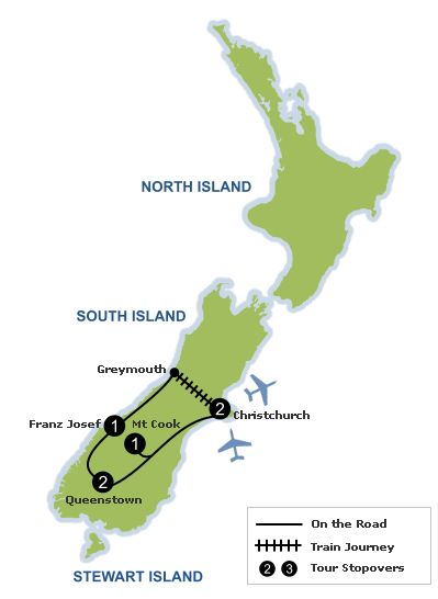 New Zealand Self Drive Holidays | 7 Day Crossing The Alps