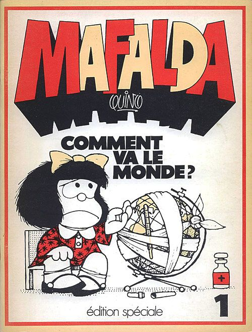 Tout sur la série Mafalda : Mafalda est une petite fille, personnage principal de l'historieta du même nom créée en 1964 par Quino. Comme son auteur, Mafalda est argentine, elle est issue de la classe moyenne. Mafalda est très populaire en Amérique latine et en Europe.  Bande dessinée à caractère plutôt politique, Mafalda se démarque toutefois par un trait d'humour extrêmement subtil, propre à Quino. De plus, la fillette est entourée de plusieurs personnages, très caricaturaux et de points…