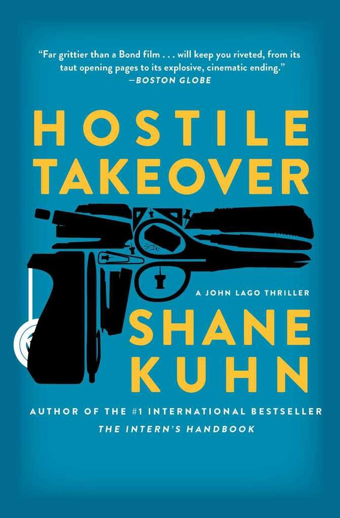 """Hostile Takeover: A John Lago Thriller on Scribd // In the sequel to Shane Kuhn's bestselling The Intern's Handbook, professional assassin John Lago faces off against his deadliest adversary yet—his wife—in a thriller that has """"all of the testosterone-bloated wisdom of Tucker Max mixed with the satire of American Psycho"""" (Entertainment Weekly)."""